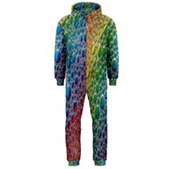 Bubbles Rainbow Colourful Colors Hooded Jumpsuit (men)  by Nexatart