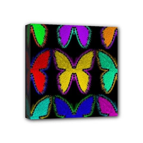 Butterflies Pattern Mini Canvas 4  X 4