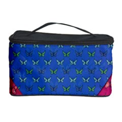 Butterfly Heart Pattern Cosmetic Storage Case by Nexatart