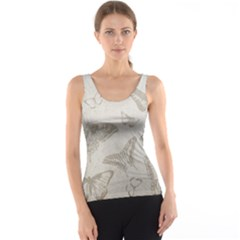 Butterfly Background Vintage Tank Top