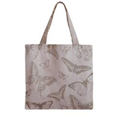 Butterfly Background Vintage Zipper Grocery Tote Bag by Nexatart