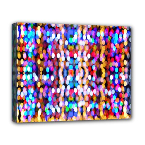 Bokeh Abstract Background Blur Deluxe Canvas 20  X 16