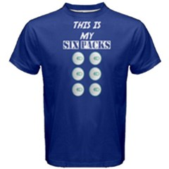 Blue This Is My Six Packs  Men s Cotton Tee