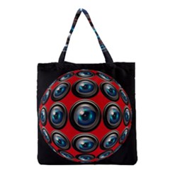 Camera Monitoring Security Grocery Tote Bag by Nexatart