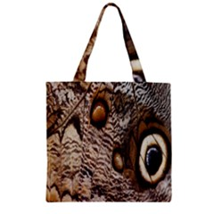 Butterfly Wing Detail Zipper Grocery Tote Bag by Nexatart