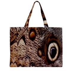 Butterfly Wing Detail Zipper Mini Tote Bag by Nexatart