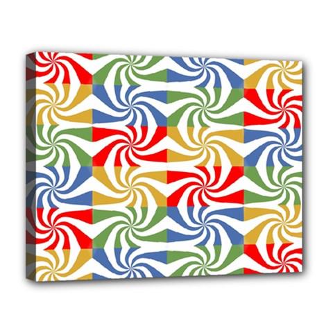 Candy Pattern  Canvas 14  X 11  by Nexatart