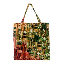 Candles Christmas Market Colors Grocery Tote Bag by Nexatart