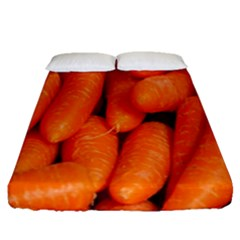 Carrots Vegetables Market Fitted Sheet (queen Size)