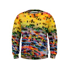 Car Painting Modern Art Kids  Sweatshirt