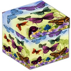 Butterfly Painting Art Graphic Storage Stool 12