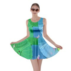 Chinese Umbrellas Screens Colorful Skater Dress