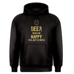 Black beer makes me happy Men s Pullover Hoodie by FunnySaying