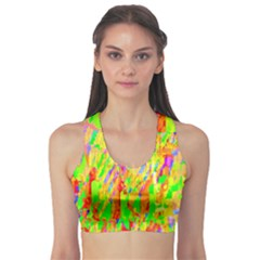 Cheerful Phantasmagoric Pattern Sports Bra