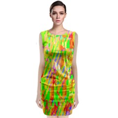 Cheerful Phantasmagoric Pattern Classic Sleeveless Midi Dress