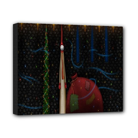 Christmas Xmas Bag Pattern Canvas 10  X 8  by Nexatart