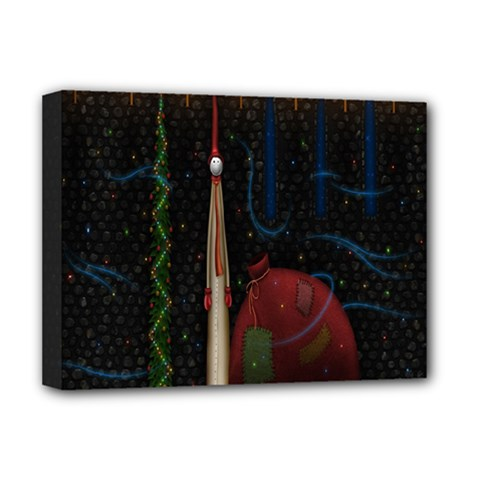 Christmas Xmas Bag Pattern Deluxe Canvas 16  X 12