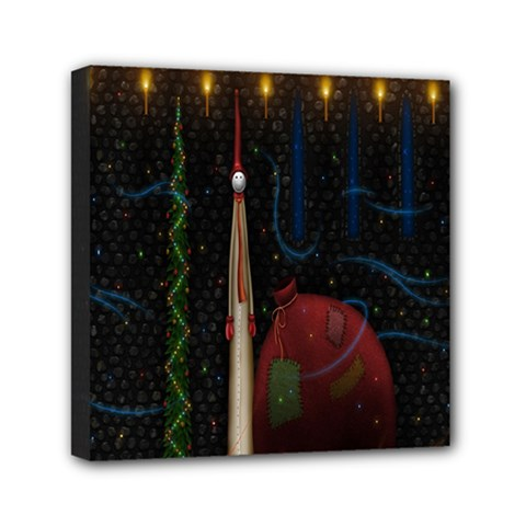 Christmas Xmas Bag Pattern Mini Canvas 6  X 6  by Nexatart