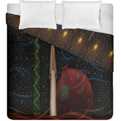Christmas Xmas Bag Pattern Duvet Cover Double Side (king Size) by Nexatart