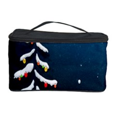 Christmas Xmas Fall Tree Cosmetic Storage Case by Nexatart
