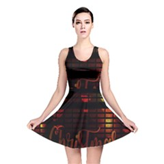 Christmas Advent Gloss Sparkle Reversible Skater Dress