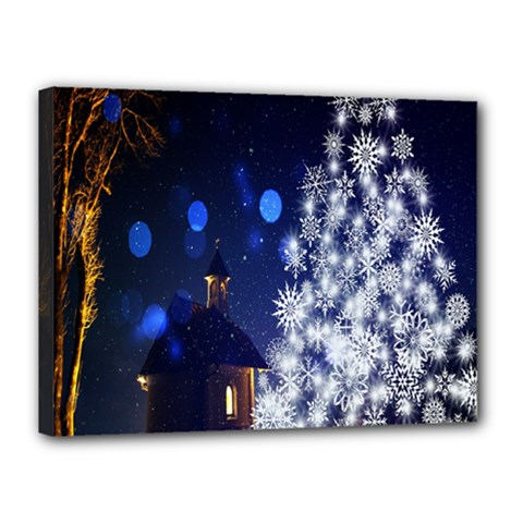 Christmas Card Christmas Atmosphere Canvas 16  X 12  by Nexatart