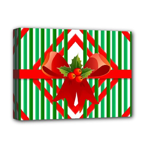 Christmas Gift Wrap Decoration Red Deluxe Canvas 16  X 12