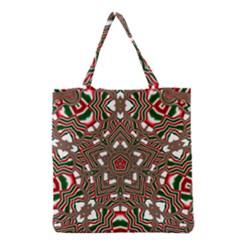 Christmas Kaleidoscope Grocery Tote Bag by Nexatart