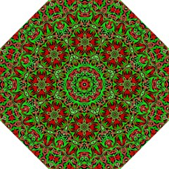 Christmas Kaleidoscope Pattern Straight Umbrellas by Nexatart