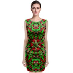 Christmas Kaleidoscope Pattern Classic Sleeveless Midi Dress