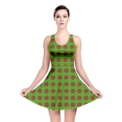 Christmas Paper Wrapping Patterns Reversible Skater Dress