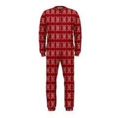 Christmas Paper Pattern Onepiece Jumpsuit (kids)