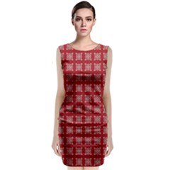 Christmas Paper Pattern Classic Sleeveless Midi Dress