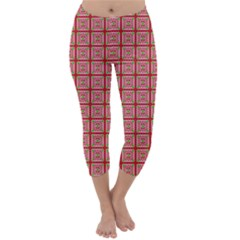 Christmas Paper Wrapping Pattern Capri Winter Leggings  by Nexatart