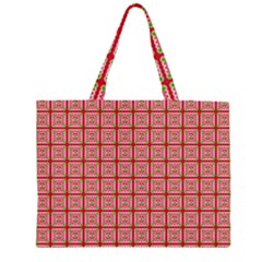 Christmas Paper Wrapping Pattern Zipper Large Tote Bag by Nexatart