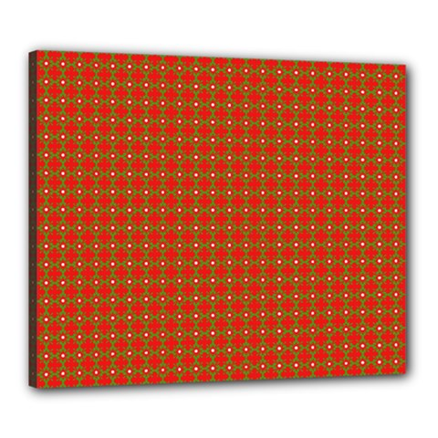 Christmas Paper Wrapping Paper Pattern Canvas 24  x 20  by Nexatart