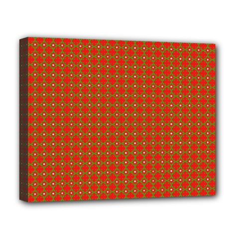 Christmas Paper Wrapping Paper Pattern Deluxe Canvas 20  X 16
