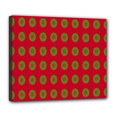 Christmas Paper Wrapping Paper Deluxe Canvas 24  X 20   by Nexatart