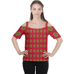 Christmas Paper Wrapping Paper Women s Cutout Shoulder Tee