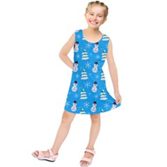 Christmas Pattern Kids  Tunic Dress by Nexatart