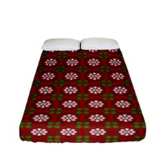 Christmas Paper Wrapping Pattern Fitted Sheet (full/ Double Size)