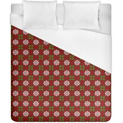 Christmas Paper Wrapping Pattern Duvet Cover (california King Size)