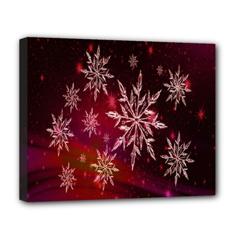 Christmas Snowflake Ice Crystal Deluxe Canvas 20  X 16   by Nexatart