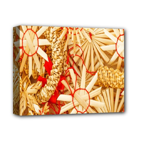 Christmas Straw Xmas Gold Deluxe Canvas 14  X 11
