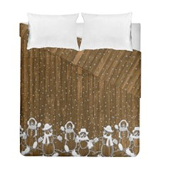 Christmas Snowmen Rustic Snow Duvet Cover Double Side (full/ Double Size) by Nexatart