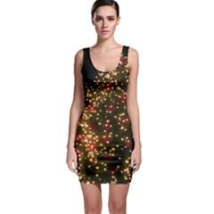 Christmas Tree Sleeveless Bodycon Dress