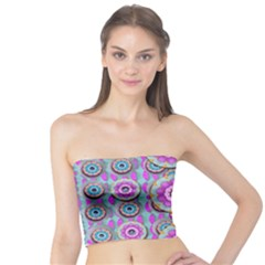Magic Flowers From  The Paradise Of Lotus Tube Top by pepitasart
