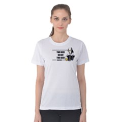 White Two Beer Or Not Two Beer  Women s Cotton Tee