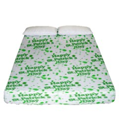 Saint Patrick Motif Pattern Fitted Sheet (Queen Size)