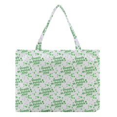 Saint Patrick Motif Pattern Medium Tote Bag by dflcprints